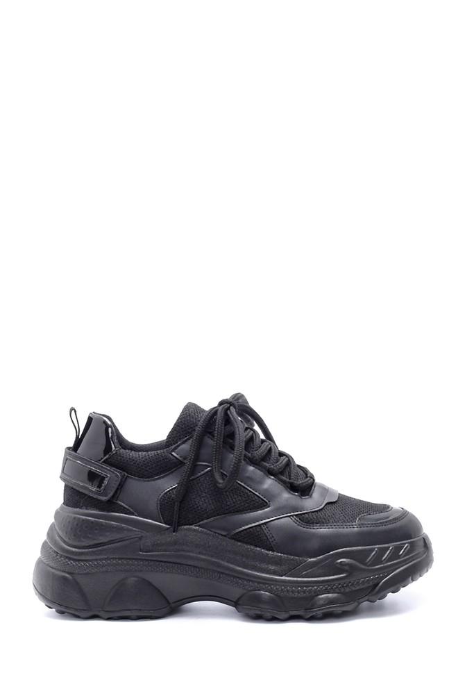 Siyah Kadın Yüksek Tabanlı Sneaker 5638220082