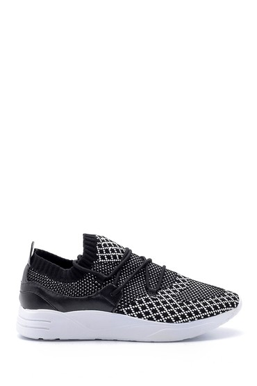 Siyah Kadın Bağcık Detaylı Çorap Sneaker 5638105750