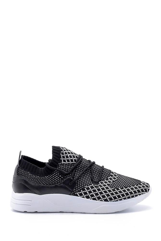 Siyah Kadın Bağcık Detaylı Çorap Sneaker 5638105762