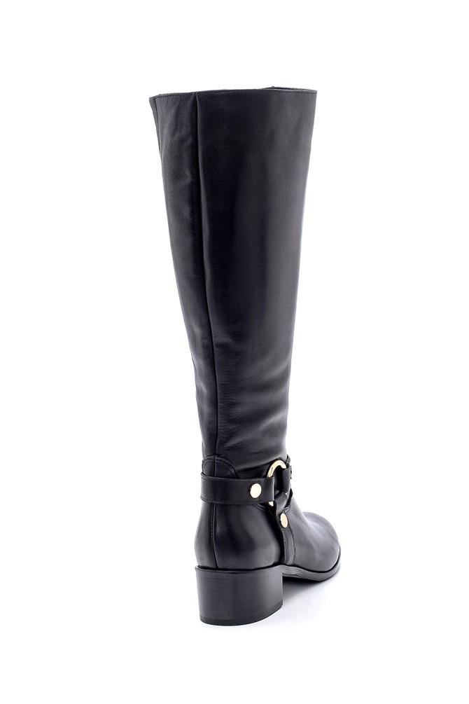 5638193993 Kadın Deri Topuklu Çizme