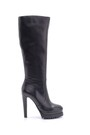 5638199253 Kadın Deri Topuklu Çizme