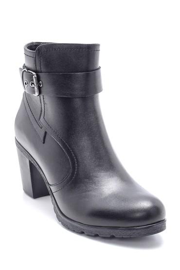 Siyah Kadın Deri Topuklu Bot 5638202576