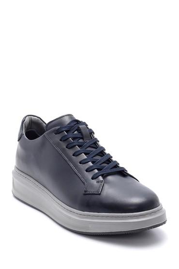 Lacivert Erkek Deri Sneaker 5638204480