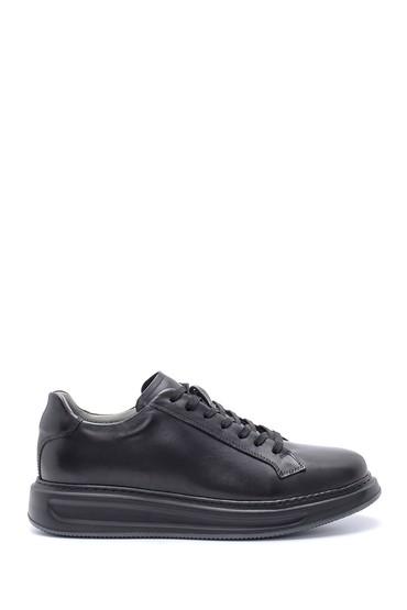 Siyah Erkek Deri Sneaker 5638204482