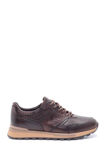 Kahverengi Erkek Deri Sneaker 5638204528