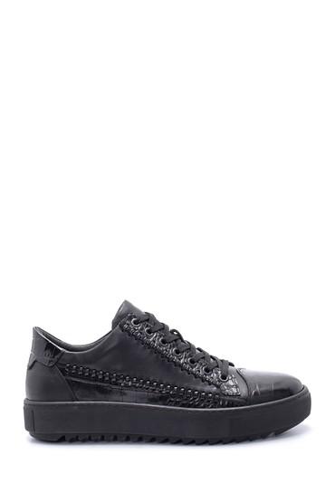 Siyah Erkek Deri Sneaker 5638211022