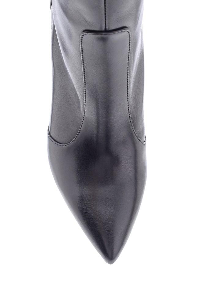 5638206278 Kadın Deri Topuklu Çizme