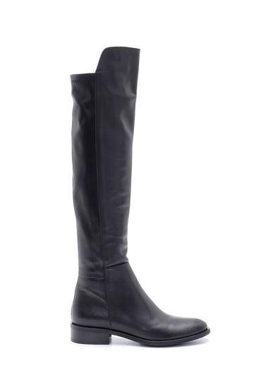 Siyah Kadın Deri Çizme 5638212877