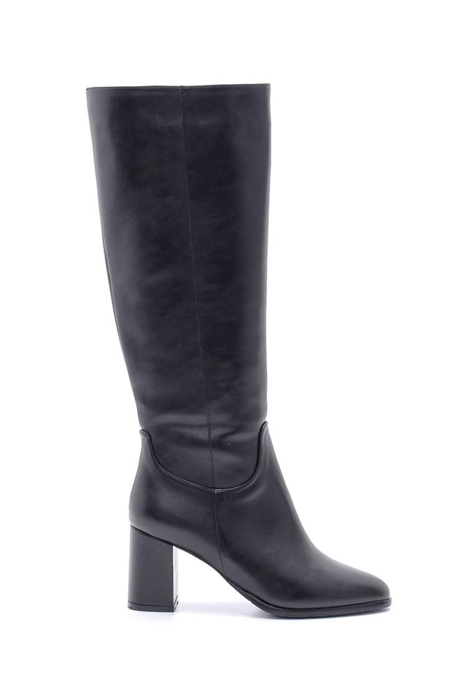 Siyah Kadın Topuklu Çizme 5638213199