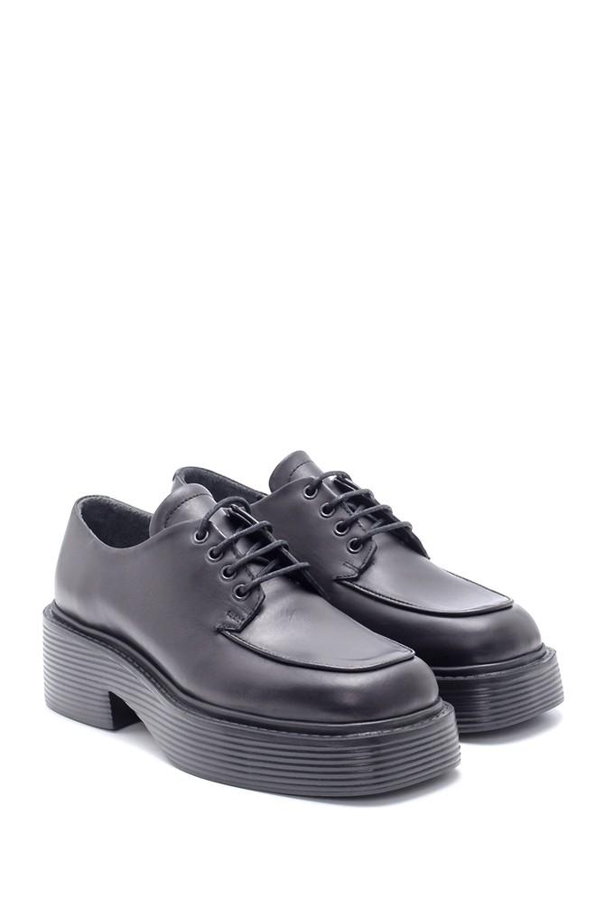 5638216520 Kadın Deri Yüksek Tabanlı Casual Ayakkabı