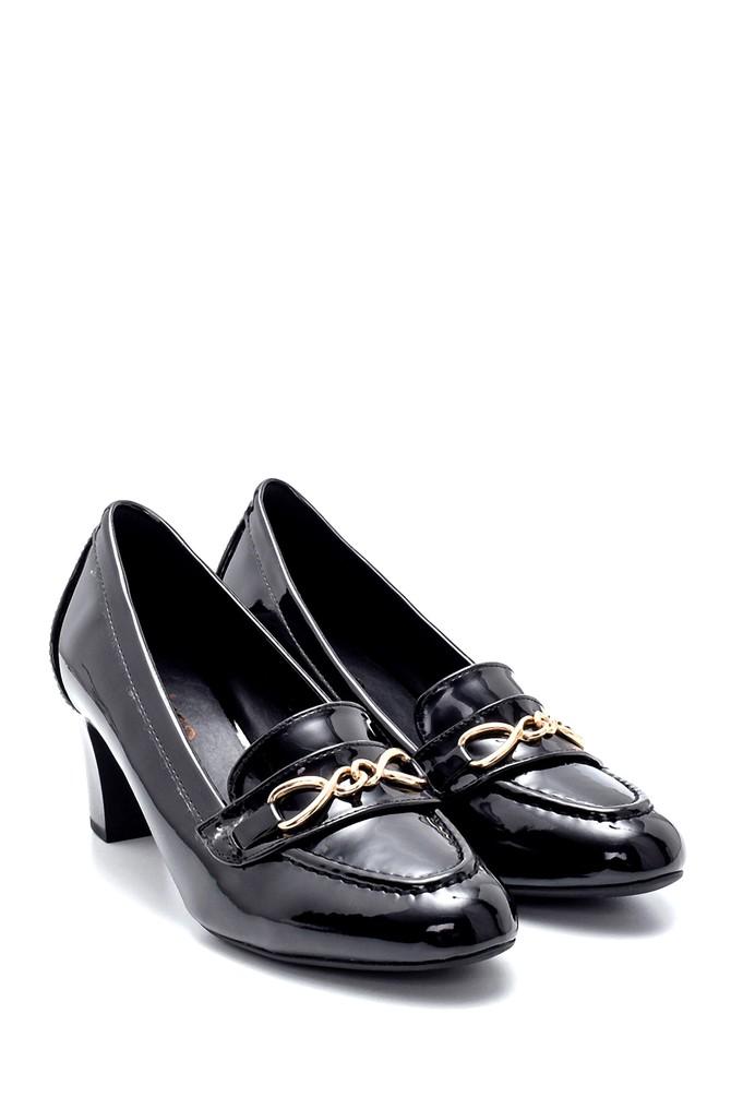 5638199545 Kadın Rugan Kalın Topuklu Ayakkabı