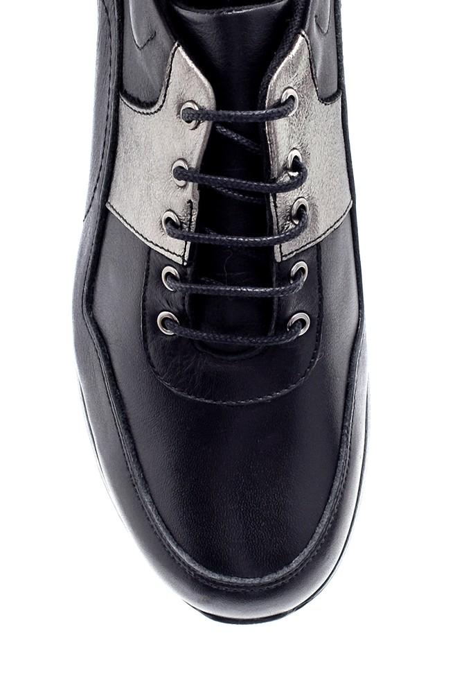 5638202476 Kadın Deri Dolgu Topuk Sneaker