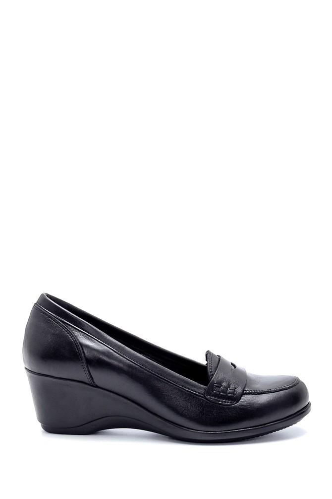 Siyah Kadın Deri Dolgu Topuklu Ayakkabı 5638202647