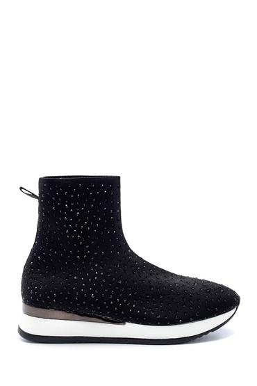 Siyah Kadın Yüksek Tabanlı Çorap Bot 5638206354