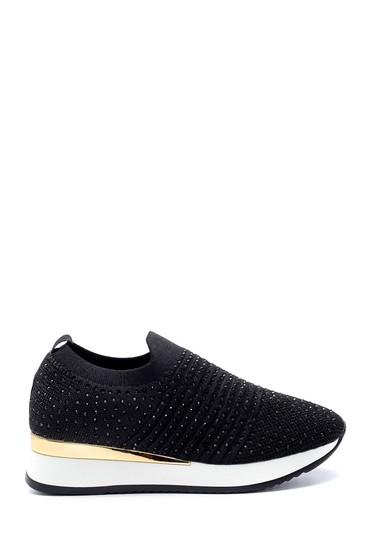 Siyah Kadın Yüksek Tabanlı Çorap Sneaker 5638206364