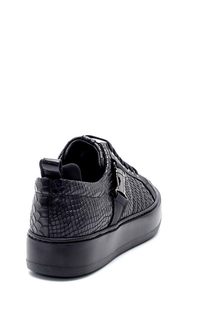 5638207965 Erkek Deri Kroko Desenli Sneaker