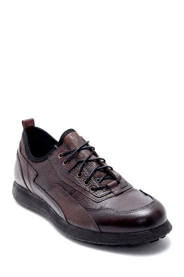 Kahverengi Erkek Deri Sneaker 5638208243