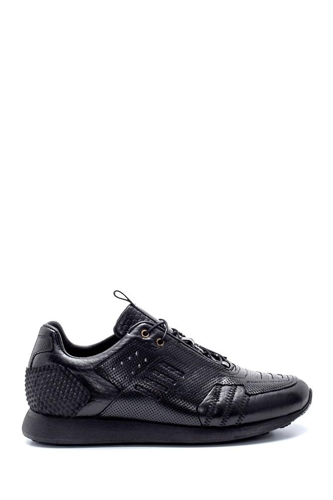 Siyah Erkek Deri Sneaker 5638208269