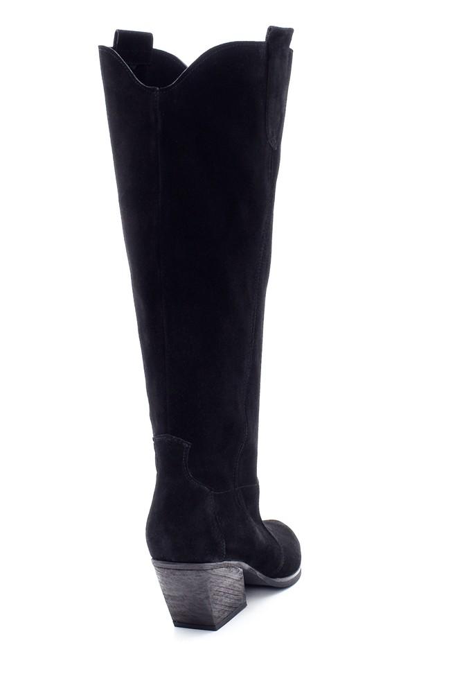 5638213339 Kadın Süet Topuklu Çizme