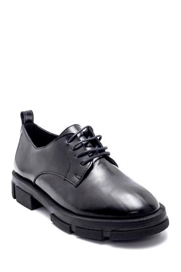 Siyah Kadın Deri Ayakkabı 5638218141