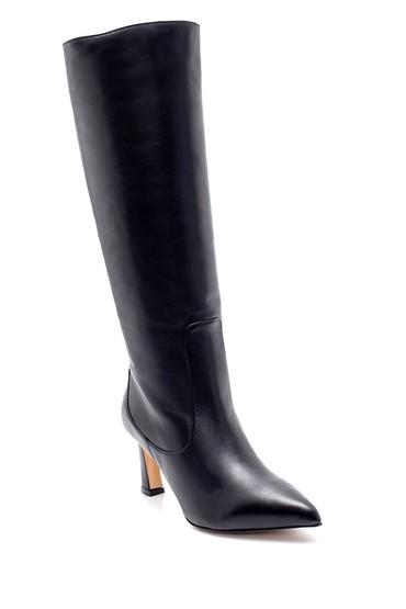 Siyah Kadın Deri Topuklu Çizme 5638229867