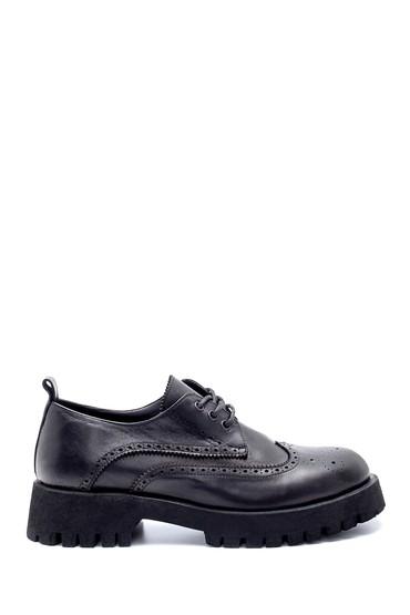 Siyah Kadın Deri Ayakkabı 5638236585