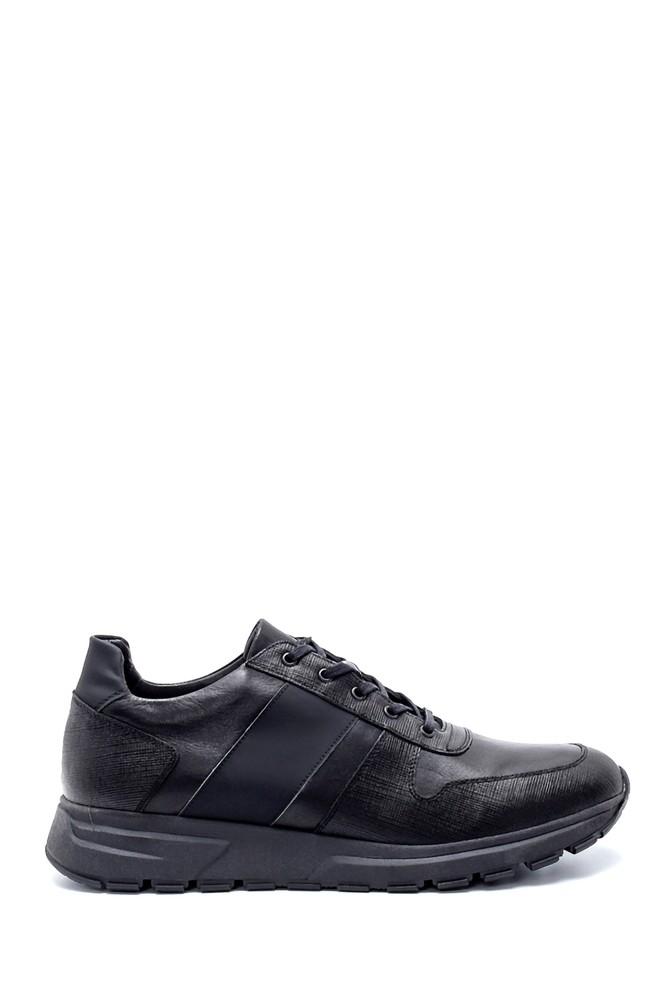 Siyah Erkek Deri Sneaker 5638215291
