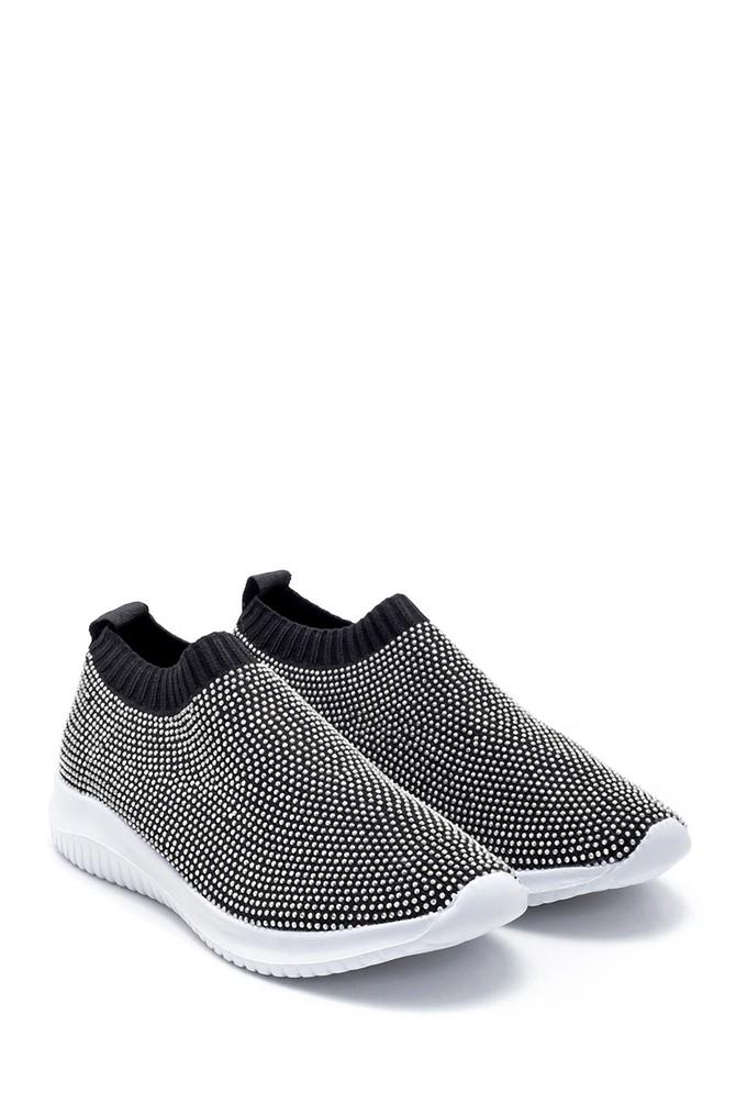 5638191689 Kadın Taş Detaylı Çorap Sneaker
