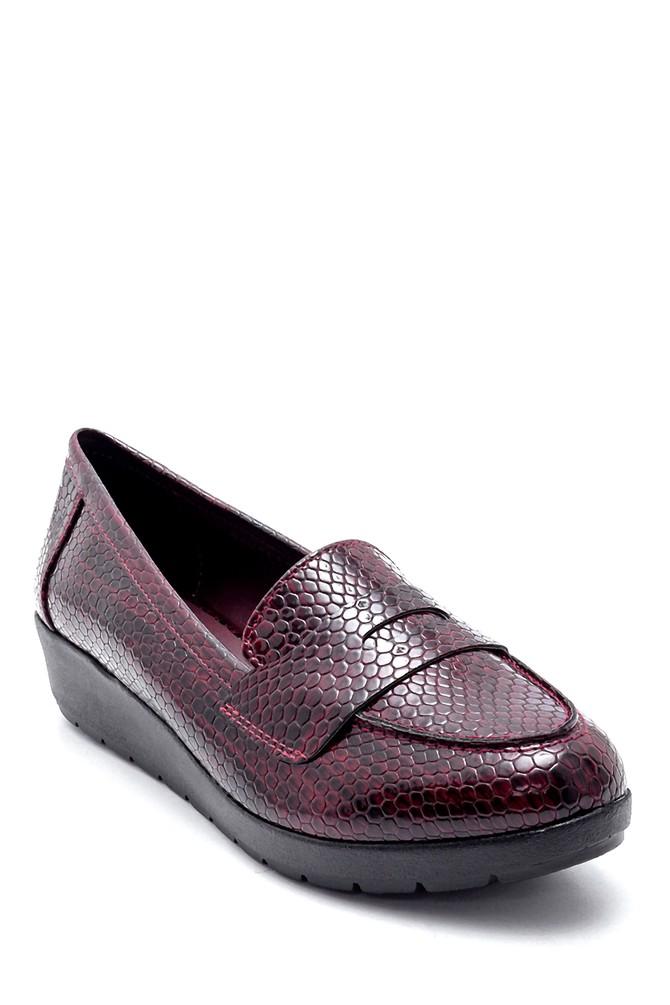 5638199363 Kadın Yılan Derisi Desenli Ayakkabı