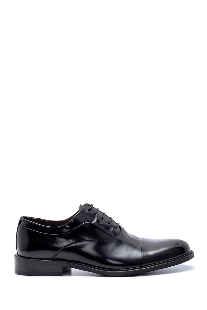 Siyah Erkek Deri Klasik Ayakkabı 5638199964