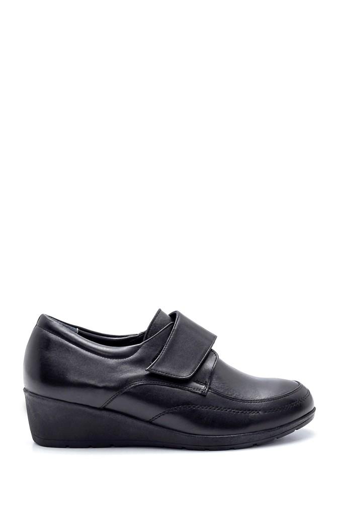 Siyah Kadın Deri Ayakkabı 5638202488