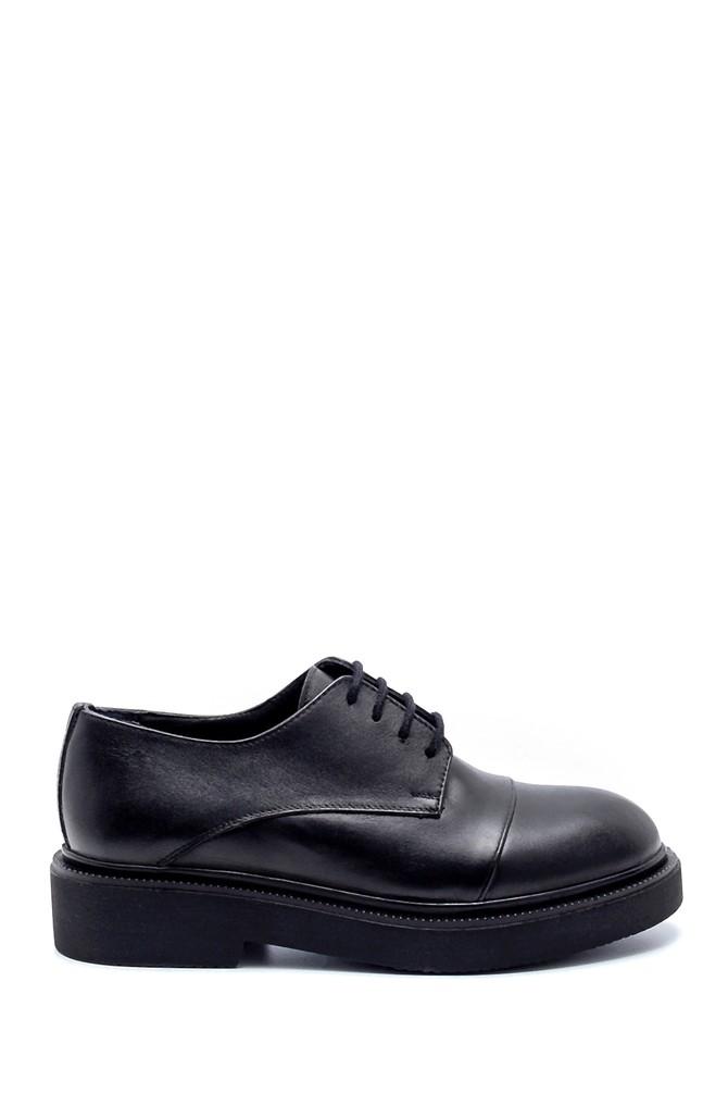 Siyah Kadın Deri Ayakkabı 5638202659