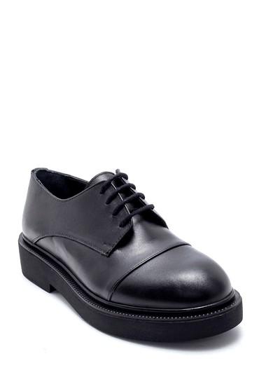 Siyah Kadın Deri Ayakkabı 5638202651