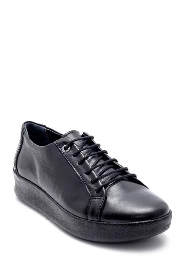 Siyah Kadın Deri Casual Ayakkabı 5638202671