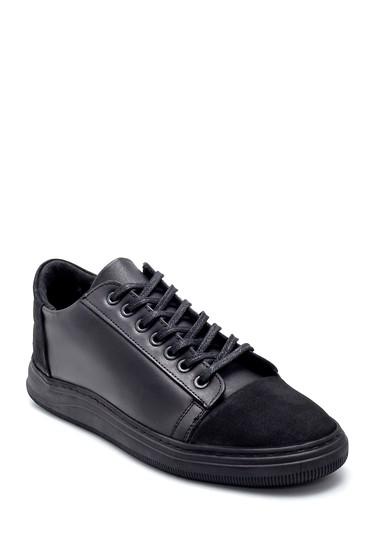 Siyah Erkek Deri Sneaker 5638204025