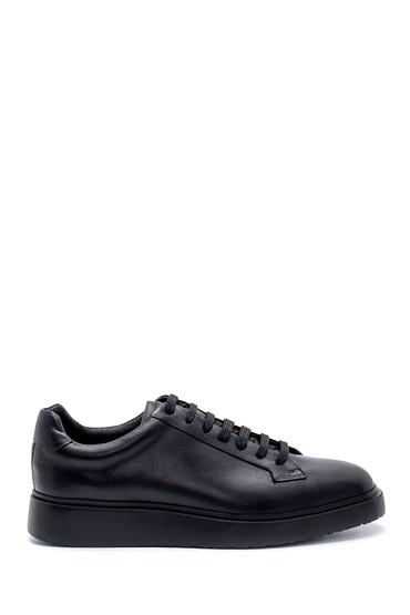 Siyah Erkek Deri Sneaker 5638208056