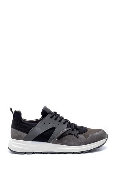 Gri Erkek Deri Sneaker 5638210880