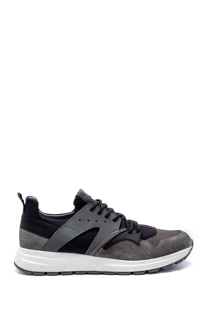 Gri Erkek Deri Sneaker 5638210899