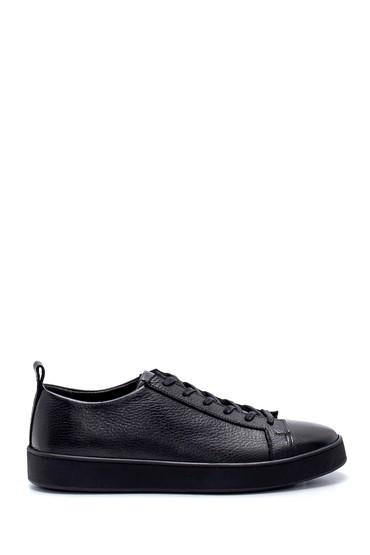 Siyah Erkek Deri Sneaker 5638212845