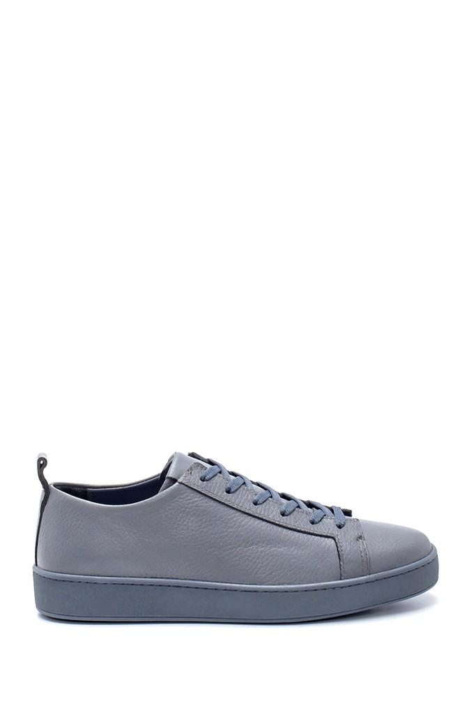 Gri Erkek Deri Sneaker 5638212846