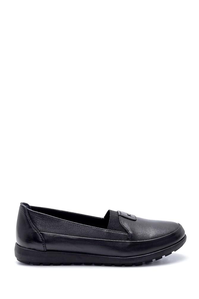 Siyah Kadın Deri Ayakkabı 5638209320