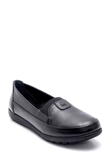 Siyah Kadın Deri Ayakkabı 5638209316