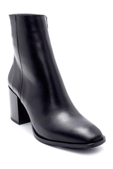 Siyah Kadın Deri Topuklu Bot 5638212955