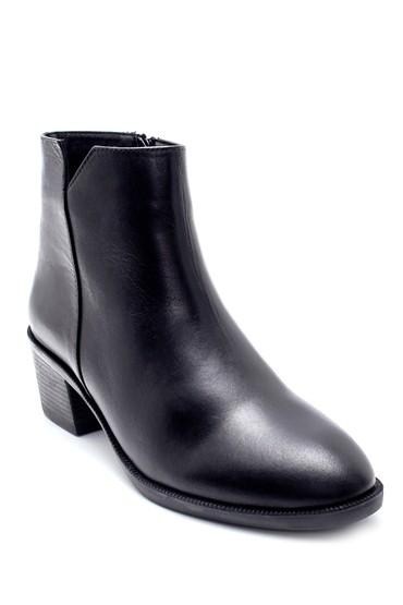 Siyah Kadın Deri Topuklu Bot 5638213447