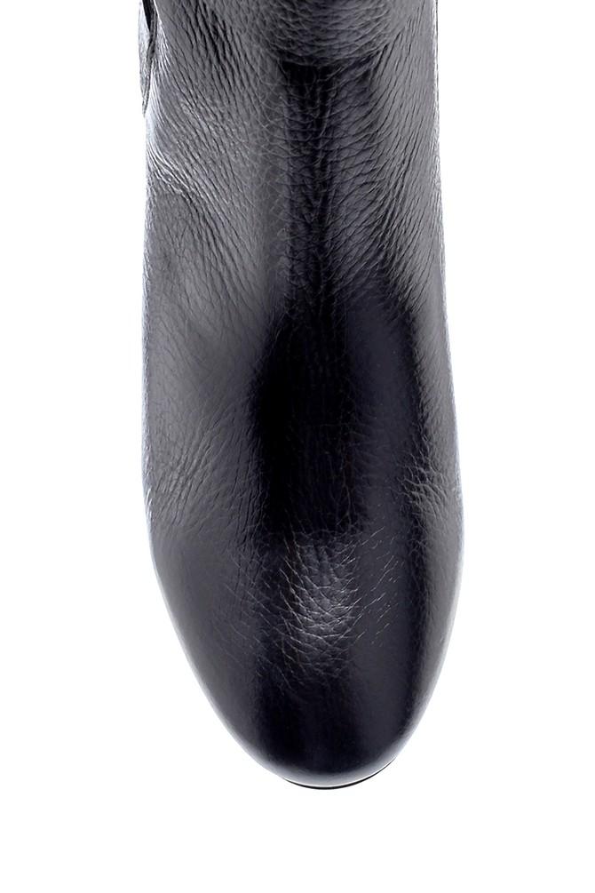 5638213517 Kadın Deri Toka Detaylı Topuklu Bot
