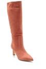 5638213847 Kadın Nubuk Deri Topuklu Çizme