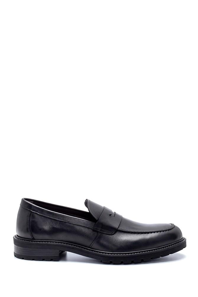 Siyah Erkek Deri Klasik Loafer 5638216474