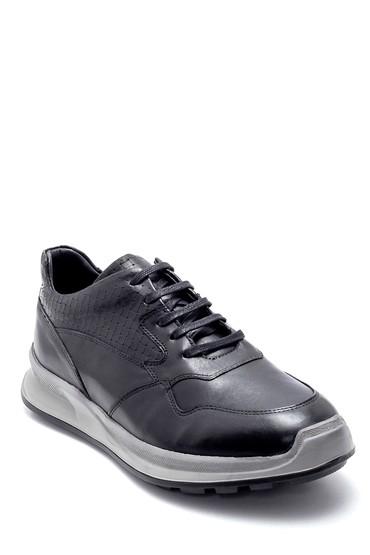 Siyah Erkek Deri Sneaker 5638218592
