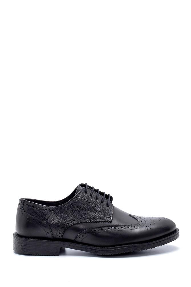 Siyah Erkek Deri Klasik Ayakkabı 5638218684