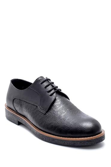 Siyah Erkek Deri Basklı Klasik Ayakkabı 5638218734